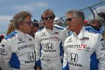 Mario Andretti, Arie Luyendyk und Rock-Legende Roger Daltrey (The Who)