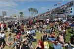 Fans in Long Beach