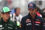 Kamui Kobayashi (Caterham) und Jean-Eric Vergne (Toro Rosso)
