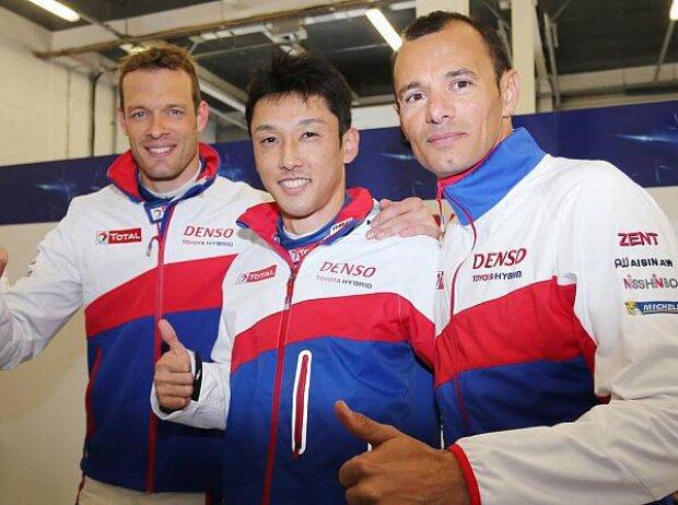 Alexander Wurz, Kazuki Nakajima, Stephane Sarrazin