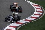 Esteban Gutierrez (Sauber) und Pastor Maldonado (Lotus)