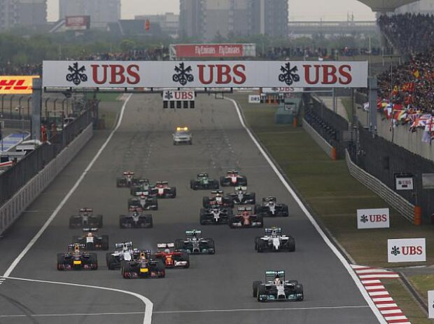 Start beim Grand Prix von China 2014