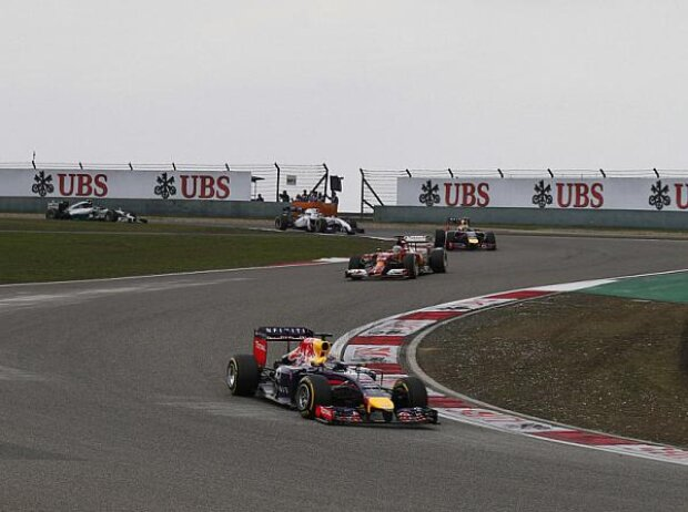 Sebastian Vettel, Fernando Alonso, Daniel Ricciardo, Felipe Massa