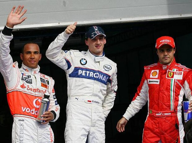 Lewis Hamilton, Robert Kubica, Felipe Massa