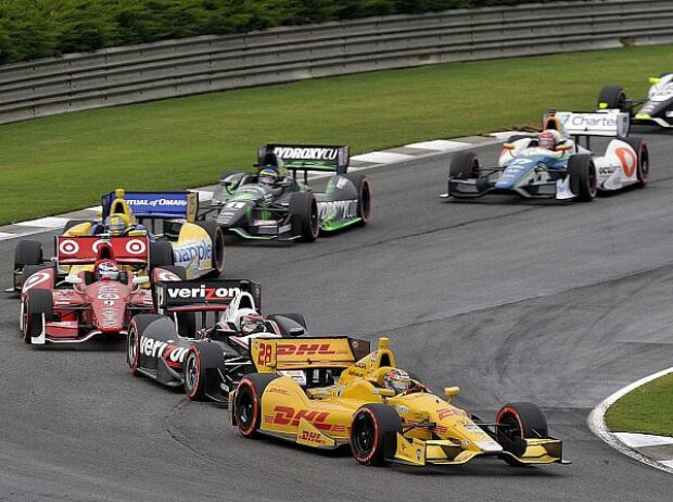 Ryan Hunter-Reay, Will Power, Scott Dixon, Marco Andretti