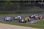 Start: Will Power (Penske), James Hinchcliffe (Andretti), Josef Newgarden (Fisher), Ryan Hunter-Reay (Andretti) und Scott Dixon (Ganassi)