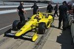 Jacques Villeneuve in seinem gelben Schmidt-Honda mit der Startnummer 5