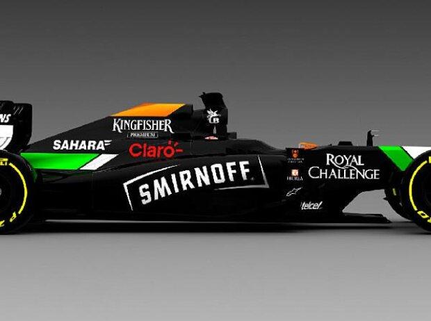 Force India mit Smirnoff-Werbung