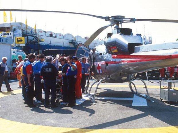 Rettungshubschrauber für Rubens Barrichello