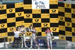 Mattias Ekström (Abt-Audi-Sportsline), Marco Wittmann (RMG-BMW) und Adrien Tambay (Abt-Audi)