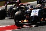 Sergio Perez (Force India) und Pastor Maldonado (Lotus)
