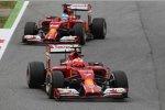 Fernando Alonso (Ferrari) und Kimi Räikkönen (Ferrari)