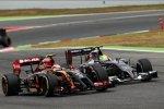 Pastor Maldonado (Lotus) und Esteban Gutierrez (Sauber)