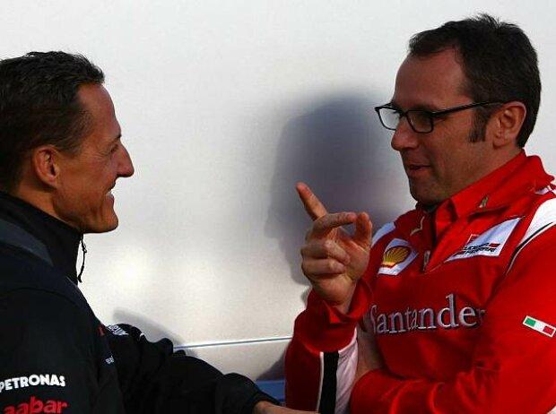 Michael Schumacher, Stefano Domenicali (Teamchef)