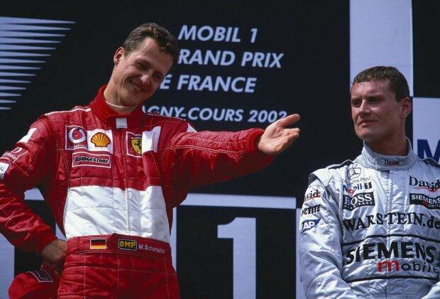 Michael Schumacher David Coulthard Ferrari Scuderia Ferrari F1Red Bull Infiniti Red Bull Racing F1McLaren McLaren Mercedes F1 ~Michael Schumacher und David Coulthard ~