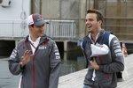 Adrian Sutil (Sauber) und Giedo van der Garde