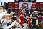 Kevin Harvick (Stewart/Haas) bei der Fahrervorstellung