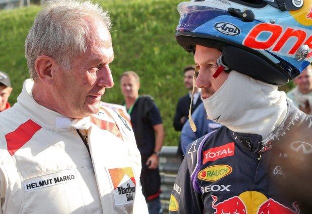 Helmut Marko Sebastian Vettel Red Bull Infiniti Red Bull Racing F1 ~Helmut Marko und Sebastian Vettel (Red Bull) ~