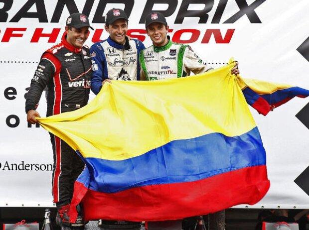 Carlos Huertas, Juan Pablo Montoya, Carlos Munoz