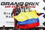Dreimal Kolumbien: Carlos Huertas (Coyne), Juan Pablo Montoya (Penske) und Carlos Munoz (Andretti)