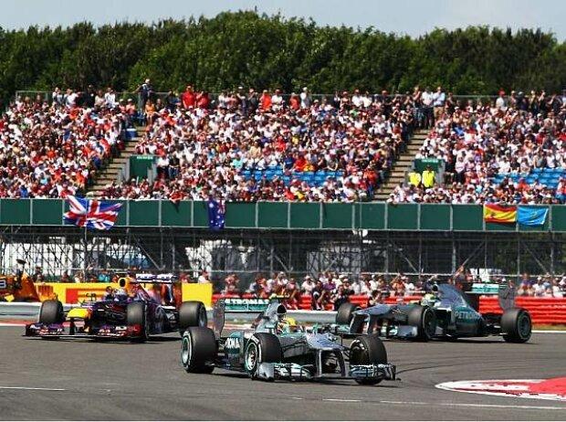 Sebastian Vettel, Nico Rosberg, Lewis Hamilton