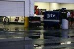Dauerregen in Daytona am Samstagabend