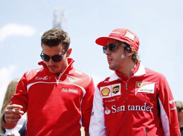 Jules Bianchi, Fernando Alonso