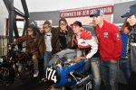 Die deutschen Fahrer im Motorradmuseum