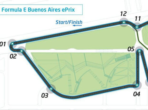 Stadtkurs für die Formel E in Buenos Aires