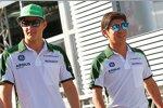 Marcus Ericsson (Caterham) und Kamui Kobayashi (Caterham)