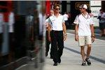 Jenson Button (McLaren) und Adrian Sutil (Sauber)