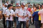 Nico Rosberg (Mercedes) und Adrian Sutil (Sauber)