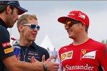 Jean-Eric Vergne (Toro Rosso), Sebastian Vettel (Red Bull) und Kimi Räikkönen (Ferrari)