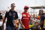 Sebastian Vettel (Red Bull) und Kimi Räikkönen (Ferrari)