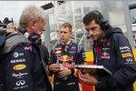 Helmut Marko und Sebastian Vettel (Red Bull)