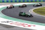 Kamui Kobayashi (Caterham), Jules Bianchi (Marussia), Pastor Maldonado (Lotus) und Kevin Magnussen (McLaren)