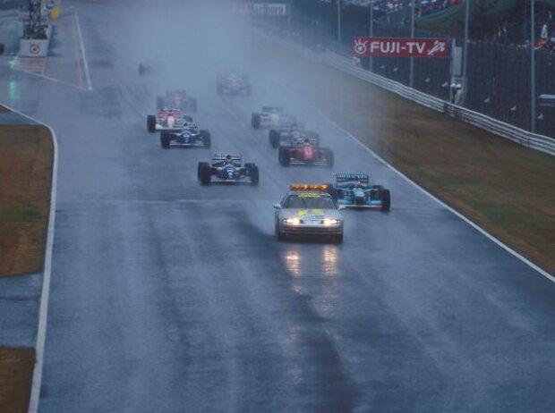 Michael Schumacher, Jean Alesi, Nigel Mansell, Heinz-Harald Frentzen, Mika Häkkinen