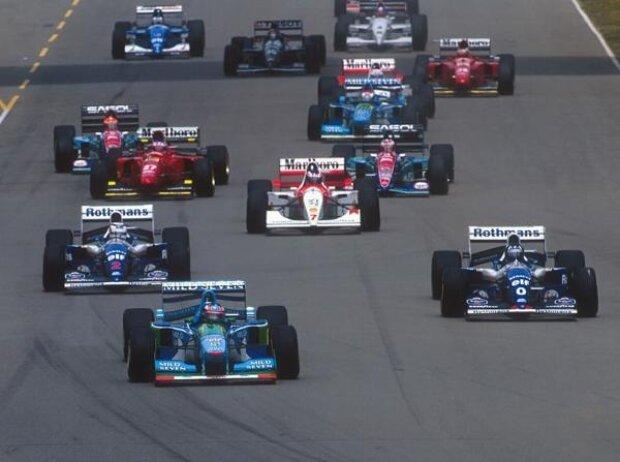 Michael Schumacher, Nigel Mansell, Mika Häkkinen, Gerhard Berger, Rubens Barrichello