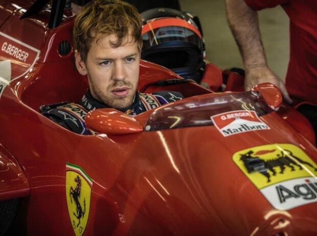 Sebastian Vettel, Gerhard Berger, Ferrari 88C
