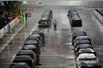 Regen vor dem Start zum Nationwide-Rennen