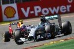 Nico Rosberg (Mercedes) und Daniel Ricciardo (Red Bull)