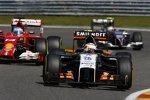 Sergio Perez (Force India), Fernando Alonso (Ferrari) und Esteban Gutierrez (Sauber)