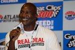 Box-Legende Evander Holyfield im Media-Center des Atlanta Motor Speedway