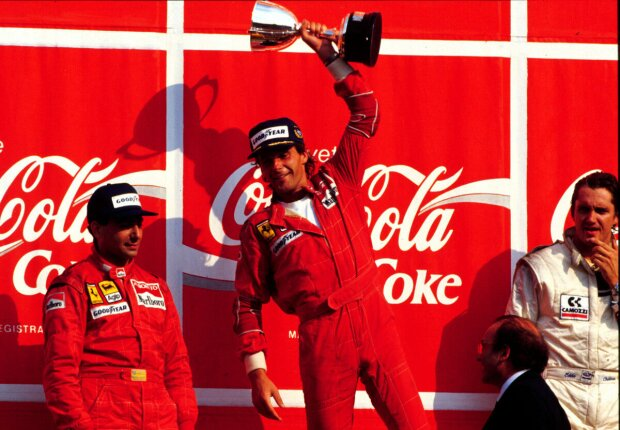 Gerhard Berger Eddie Cheever Ferrari Scuderia Ferrari F1 ~Gerhard Berger und Eddie Cheever ~