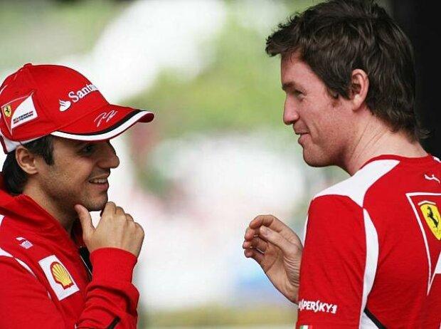 Felipe Massa und Rob Smedley