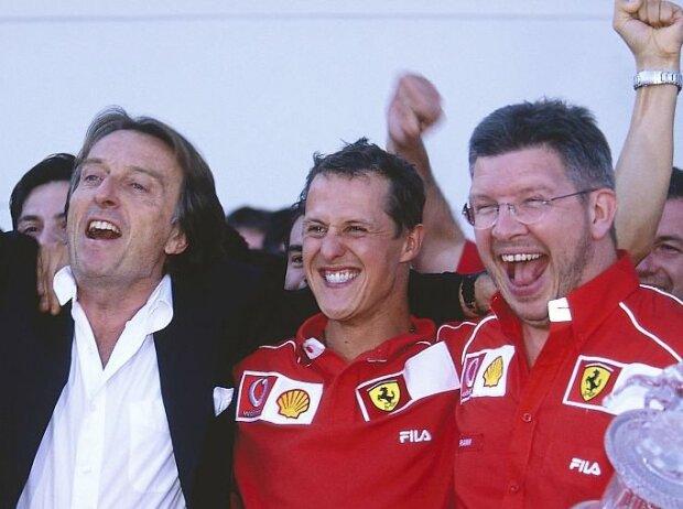 Luca di Montezemolo, Michael Schumacher, Ross Brawn