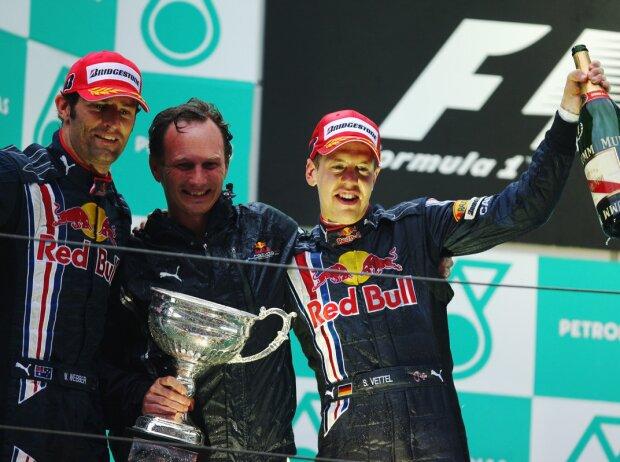 Sebastian Vettel, Mark Webber, Christian Horner