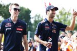 Daniil Kwjat (Toro Rosso) und Daniel Ricciardo (Red Bull)