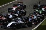 Valtteri Bottas (Williams), Daniel Ricciardo (Red Bull) und Adrian Sutil (Sauber)