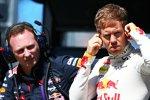 Christian Horner und Sebastian Vettel (Red Bull)